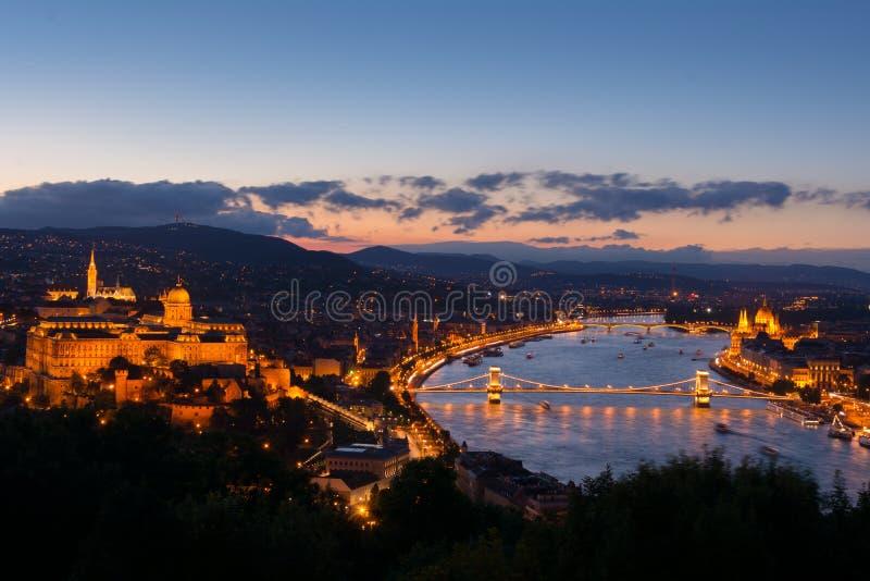 Paesaggio urbano di Budapest fotografie stock