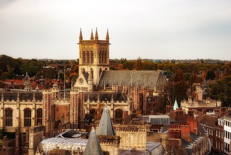 Paesaggio urbano di Cambridge fotografia stock