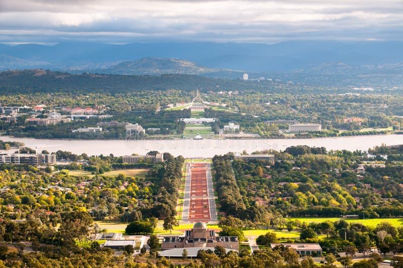 Paesaggio urbano di Canberra fotografie stock libere da diritti