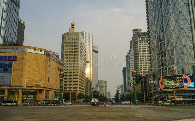 Paesaggio urbano di Chengdu, Cina immagini stock