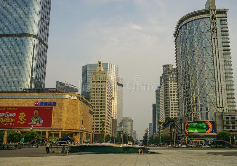 Paesaggio urbano di Chengdu, Cina fotografia stock libera da diritti