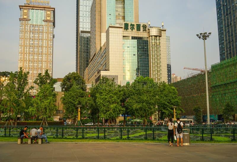 Paesaggio urbano di Chengdu, Cina immagini stock libere da diritti