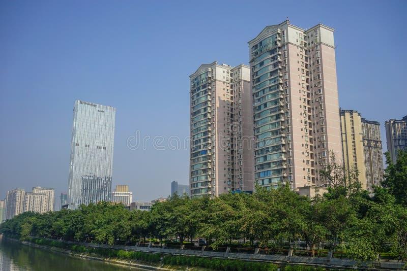 Paesaggio urbano di Chengdu, Cina fotografia stock