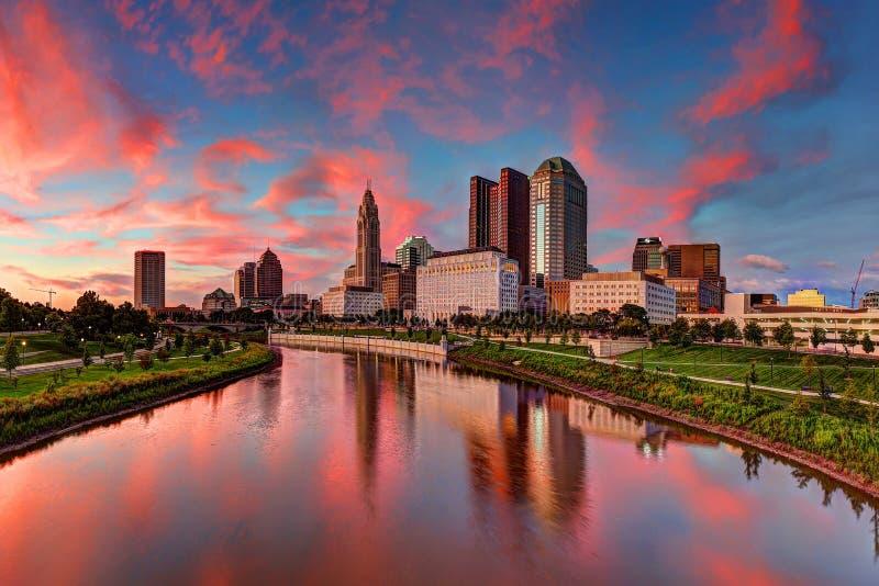 Paesaggio urbano di Columbus, Ohio fotografia stock libera da diritti