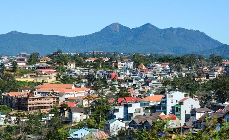 Paesaggio urbano di Dalat, Vietnam fotografia stock
