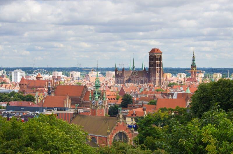 Paesaggio urbano di Danzica, Polonia fotografie stock libere da diritti