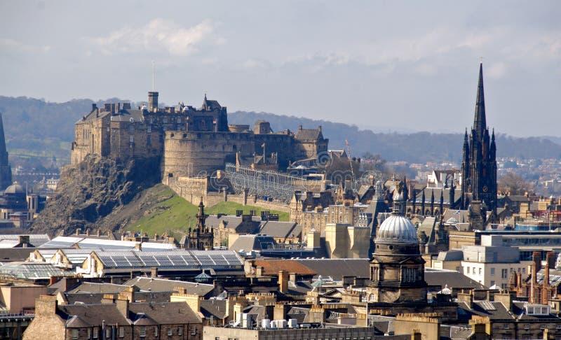 Paesaggio urbano di Edinburgh fotografie stock libere da diritti