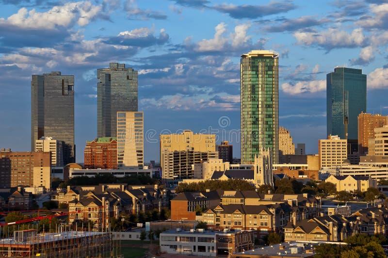 Paesaggio urbano di Fort Worth il Texas fotografia stock libera da diritti