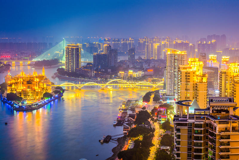 Paesaggio urbano di Fuzhou, Cina immagine stock libera da diritti