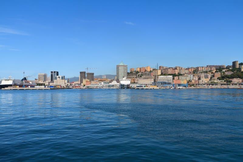 Paesaggio urbano di Genova, Italia fotografia stock