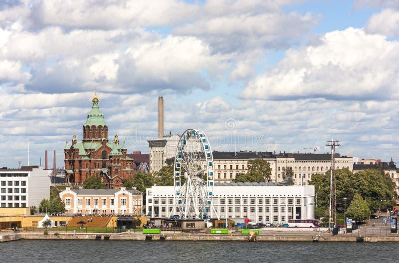 Paesaggio urbano di Helsinki, capitale della Finlandia fotografia stock