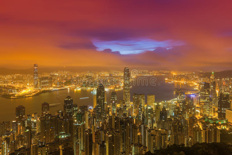 Paesaggio urbano di Hong Kong immagine stock libera da diritti