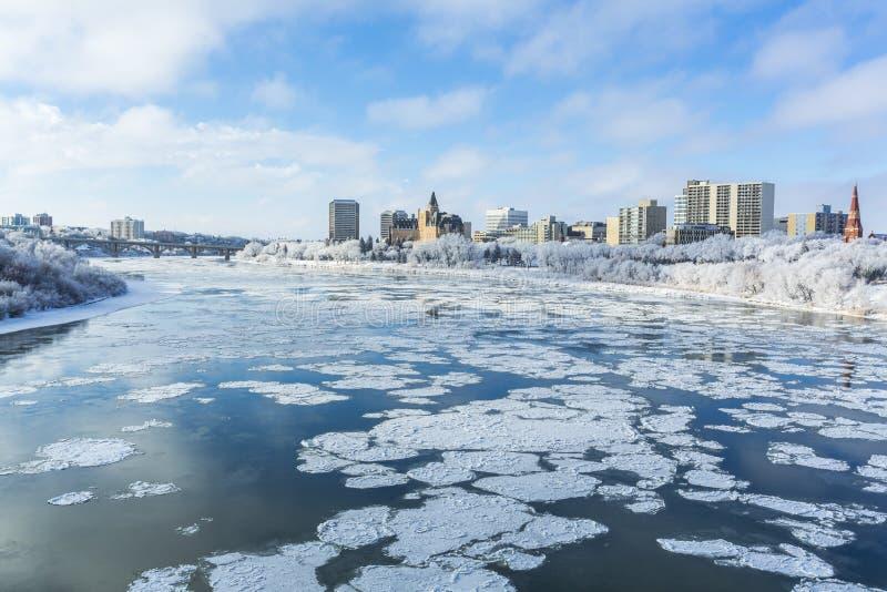 Paesaggio urbano di inverno fotografie stock libere da diritti
