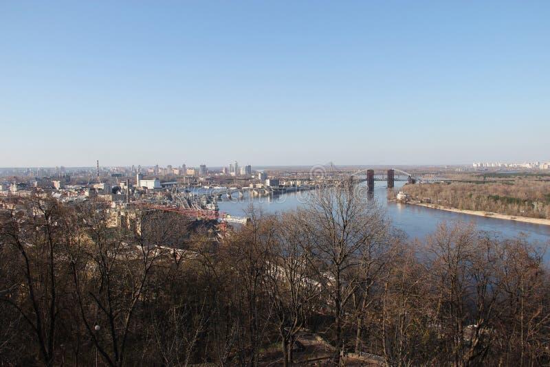 Paesaggio urbano di Kiev fotografia stock