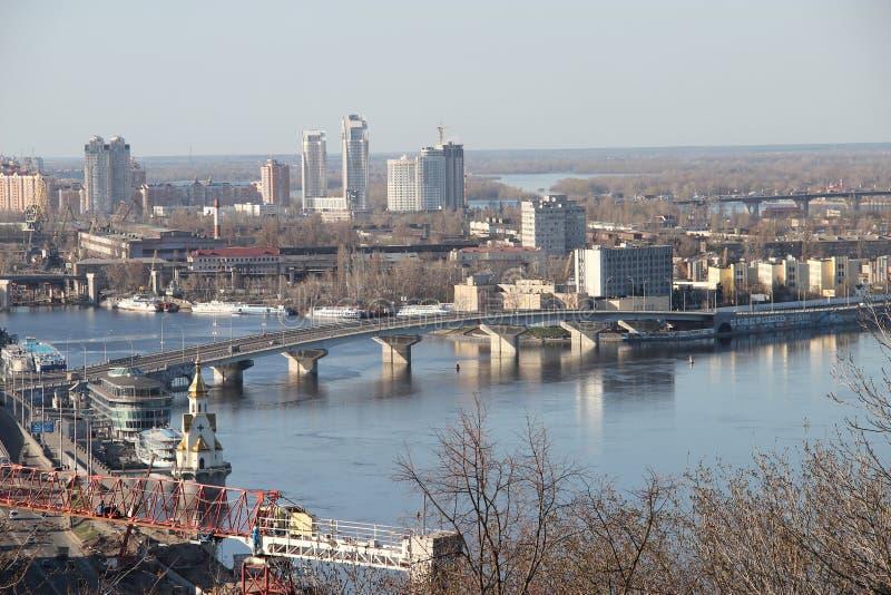 Paesaggio urbano di Kiev immagine stock libera da diritti