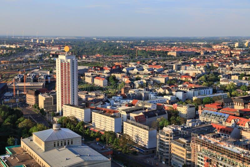 Paesaggio urbano di Lipsia, Germania fotografia stock