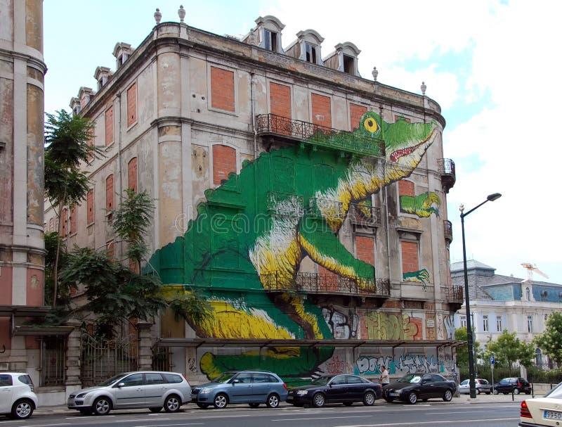 Paesaggio urbano di Lisbona immagini stock libere da diritti