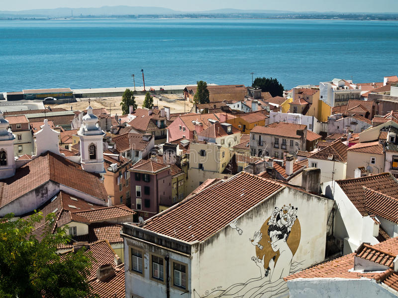 Paesaggio urbano di Lisbona immagine stock libera da diritti
