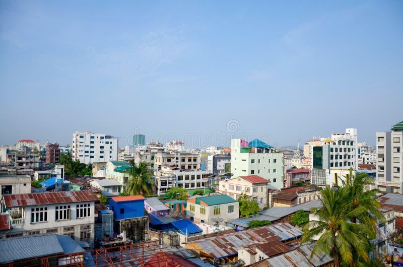 Paesaggio urbano di Mandalay immagine stock