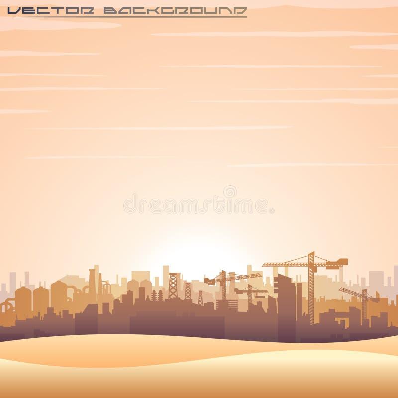 Paesaggio urbano di Medio Oriente Panorama di vettore illustrazione vettoriale