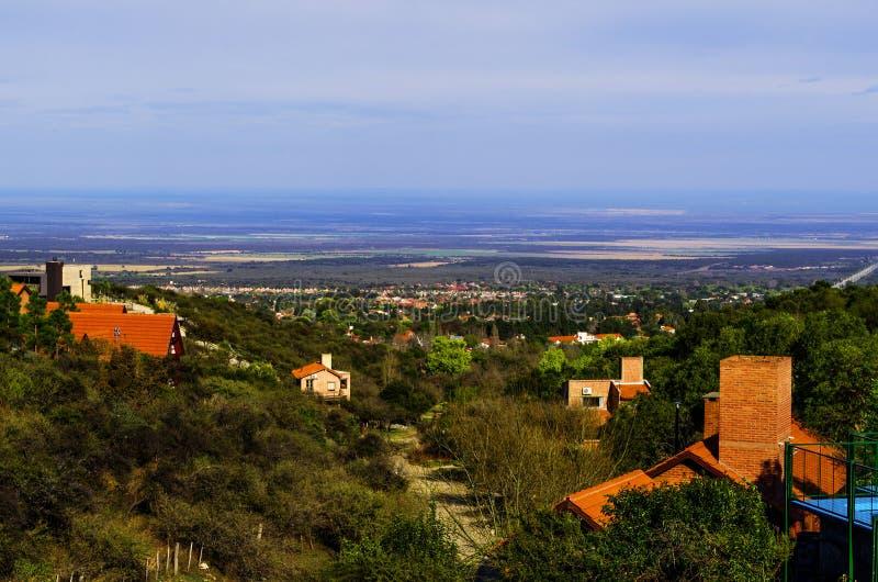 Paesaggio urbano di Merlo, San Luis immagine stock