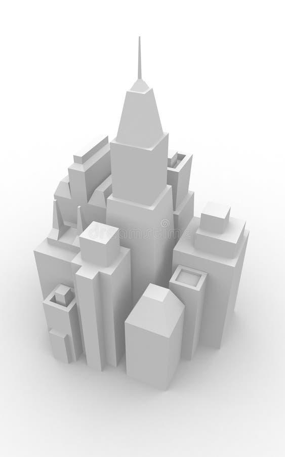 Paesaggio urbano di modello immagini stock
