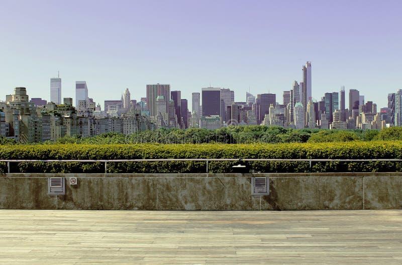 Paesaggio urbano di New York dal incontrato immagini stock libere da diritti