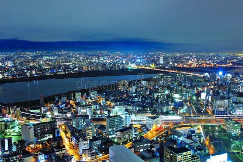 Paesaggio urbano di Osaka fotografie stock libere da diritti