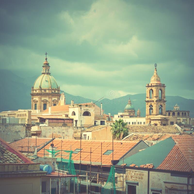 Paesaggio urbano di Palermo fotografia stock