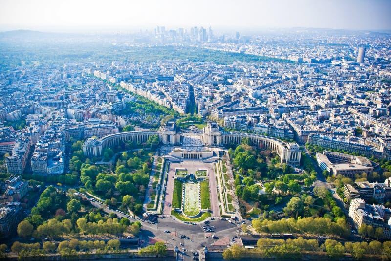 Paesaggio urbano di Parigi dalla Torre Eiffel fotografia stock libera da diritti