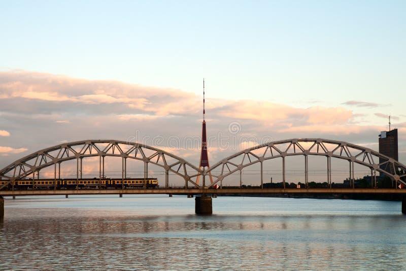 Paesaggio urbano di Riga immagini stock