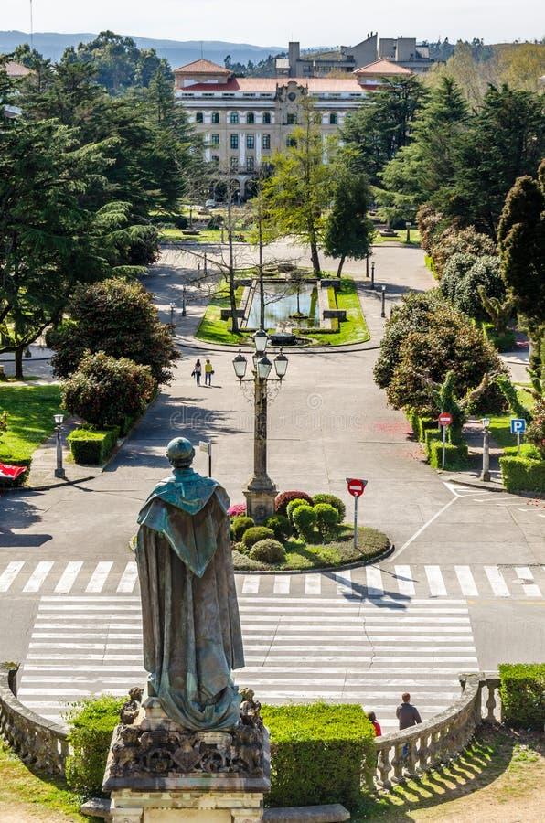 Paesaggio urbano di Santiago de Compostela, Galizia, Spagna del Nord immagini stock
