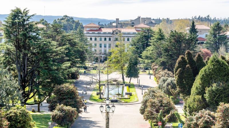 Paesaggio urbano di Santiago de Compostela, Galizia, Spagna del Nord fotografia stock