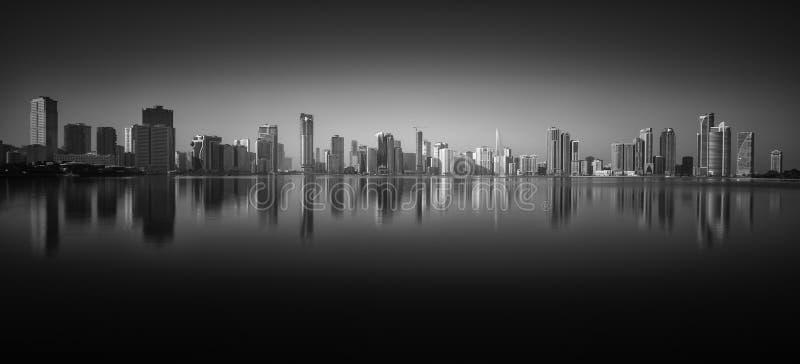 Paesaggio urbano di Sharjah, UAE, GCC fotografia stock libera da diritti