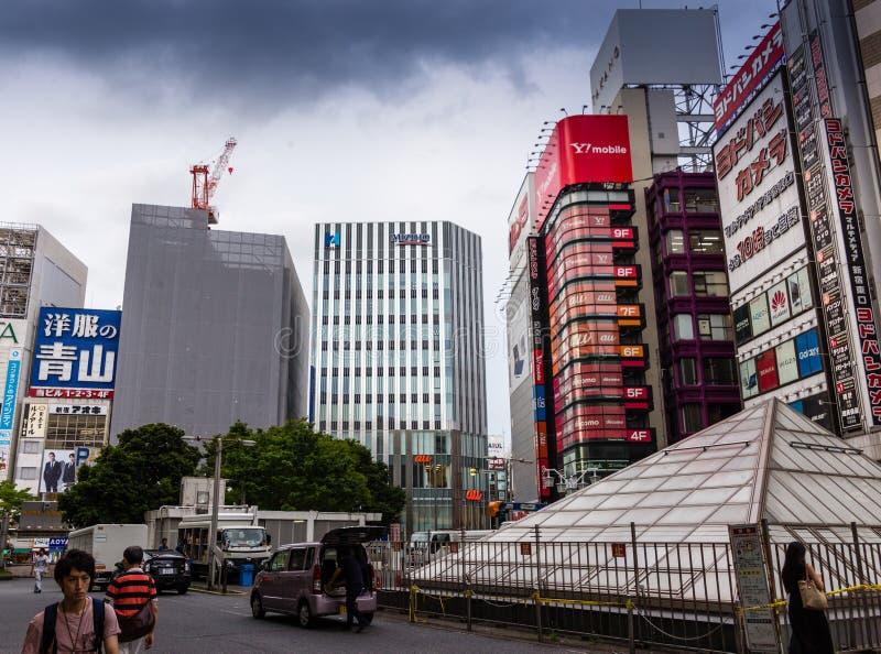 Paesaggio urbano di Shinjuku fotografie stock libere da diritti