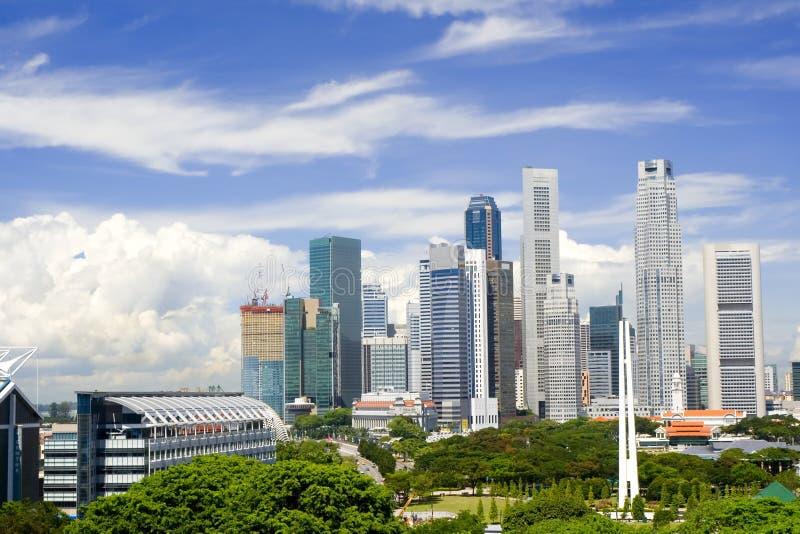 Paesaggio urbano di Singapore fotografia stock libera da diritti