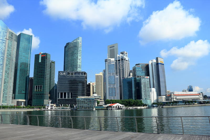 Paesaggio urbano di Singapore fotografia stock