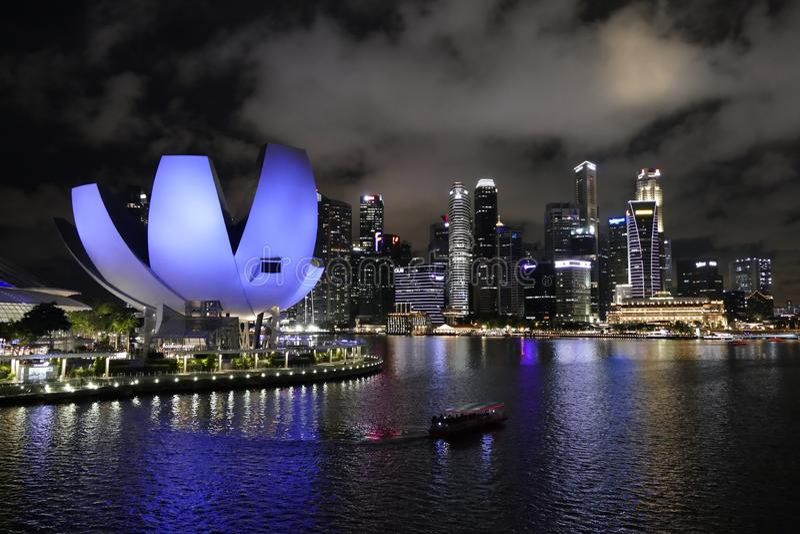 Paesaggio urbano di Singapore in Marina Bay Area immagini stock