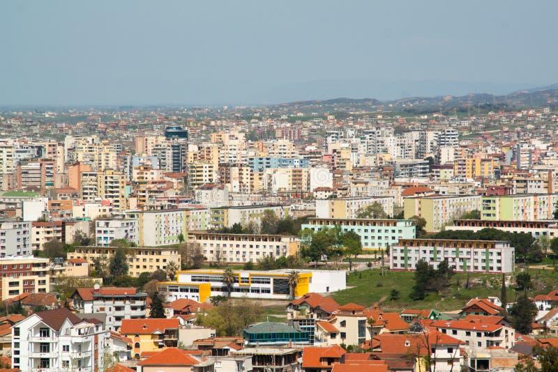 Paesaggio urbano di Tirana fotografie stock libere da diritti