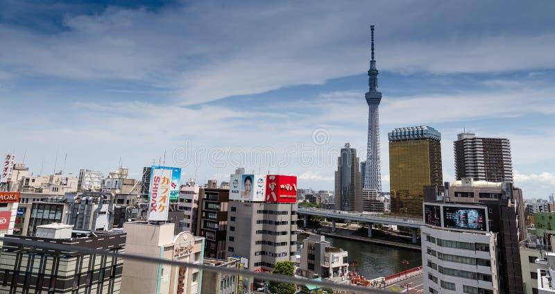Paesaggio urbano di Tokyo immagine stock libera da diritti