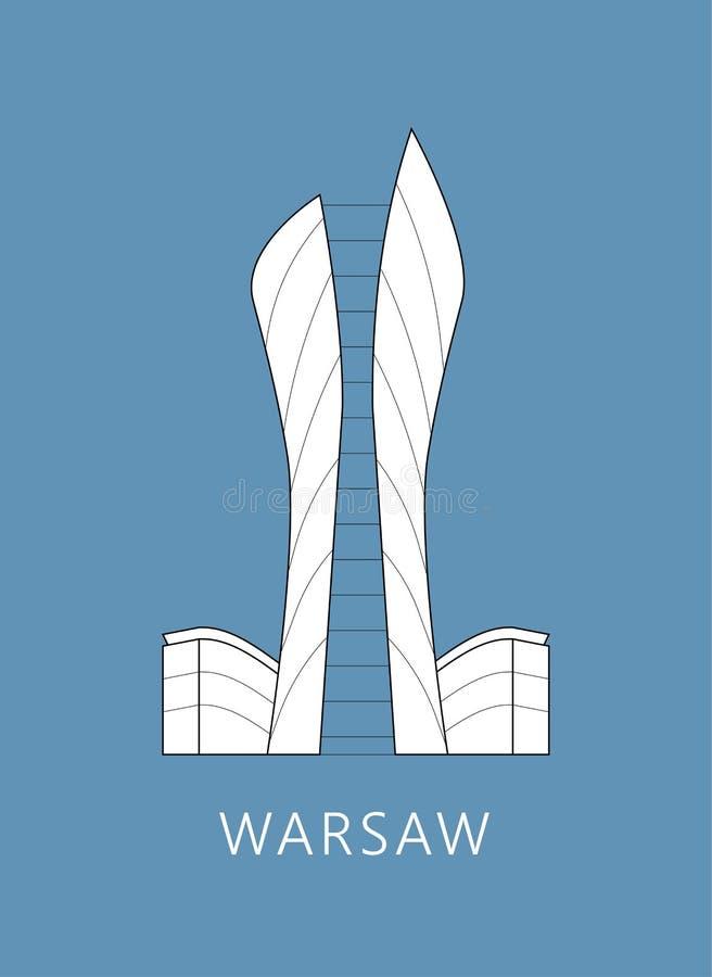 Paesaggio urbano di Varsavia fotografie stock