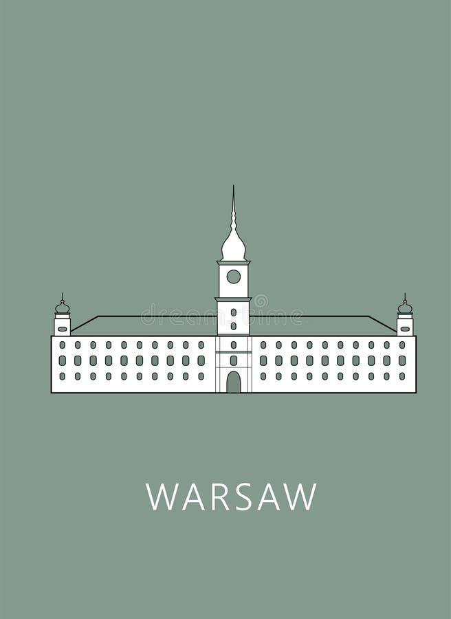 Paesaggio urbano di Varsavia fotografie stock libere da diritti