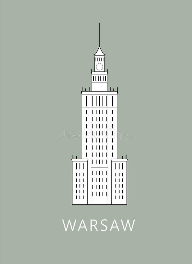 Paesaggio urbano di Varsavia fotografia stock libera da diritti
