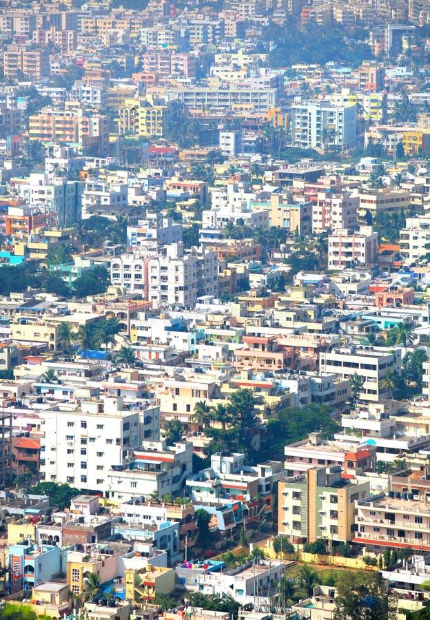 Paesaggio urbano di Visakhapatnam fotografia stock libera da diritti