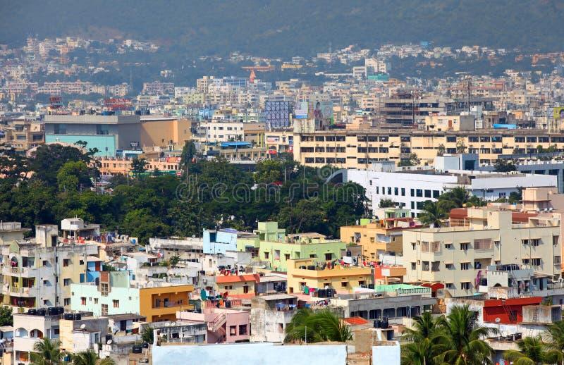 Paesaggio urbano di Visakhapatnam fotografia stock