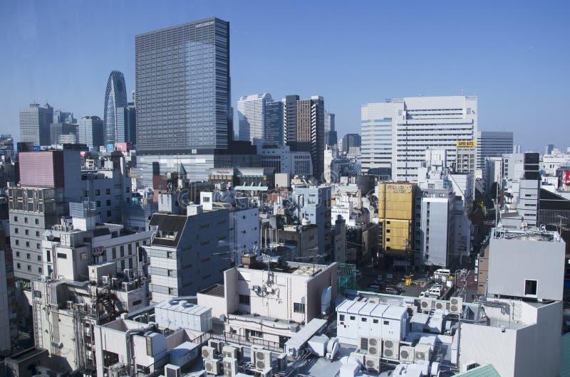 Paesaggio urbano di vista aerea di Shinjuku nella città di Tokyo della regione di Kanto fotografie stock libere da diritti