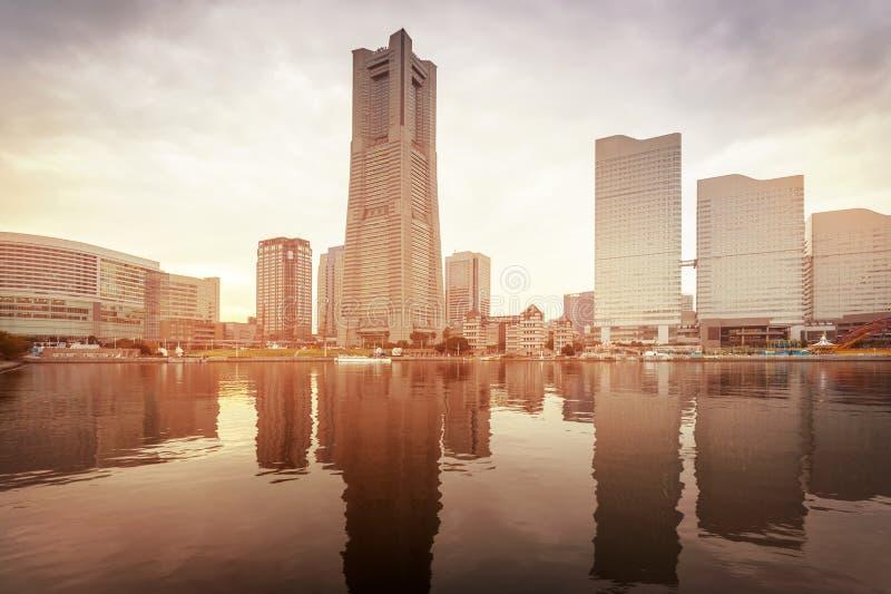 Paesaggio urbano di Yokohama, Giappone immagini stock libere da diritti