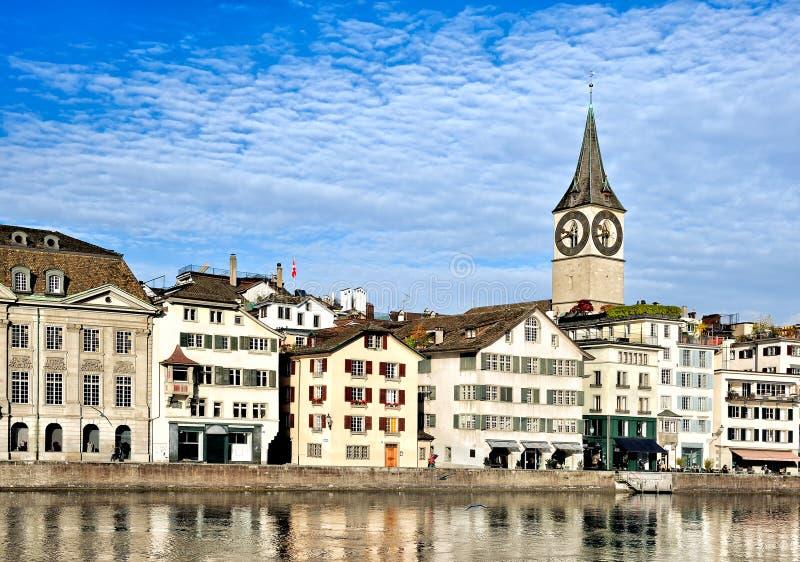 Paesaggio urbano di Zurigo fotografia stock