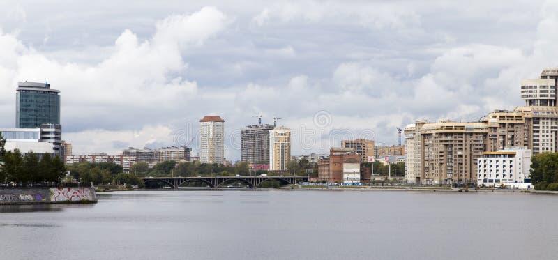 Paesaggio urbano a Ekaterinburg, Federazione Russa fotografia stock libera da diritti
