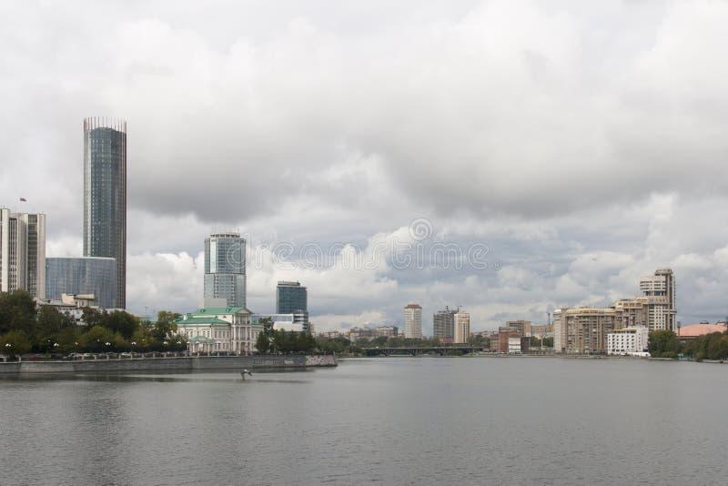 Paesaggio urbano a Ekaterinburg, Federazione Russa fotografia stock